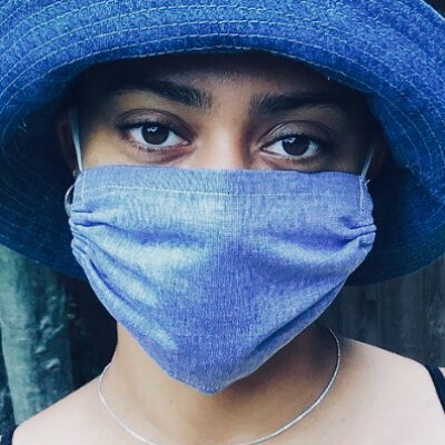 Plain denim look mask